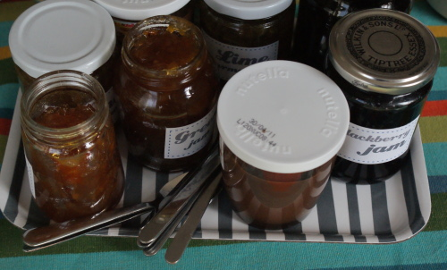 Assortment of homemade jam