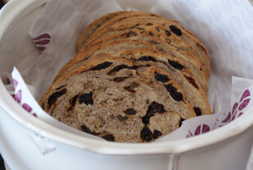 Sour cherry and walnut bread